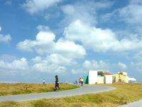 宮古島のトゥリバー海浜公園 - 宮古島マラソンの折り返し地点
