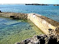 宮古島のシギラビーチハウス手前の海