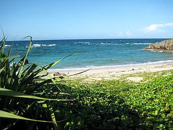 宮古南岸のビーチ