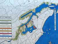 宮古島の島尻のマングローブ林 - マングローブ林のマップです