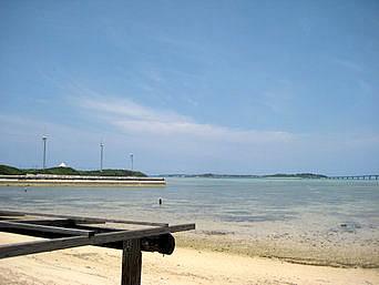 宮古島の西の浜「西平安名崎へ行く途中にあります」