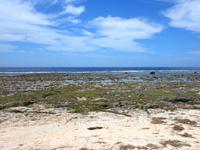 南部の米須海岸/大度海岸の穴場の入口 - 地元の人しか来ません