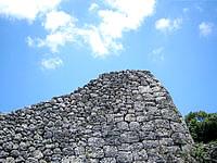南部の糸数城跡 - 石垣があるだけでそれ以外は何もないかも?