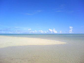 百名ビーチ沖