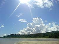 南部の百名ビーチ沖/幻の浜 - 潮の干満次第ですが歩いて行けます