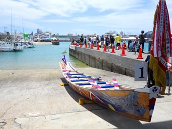 南部の糸満漁港/糸満ハーレー