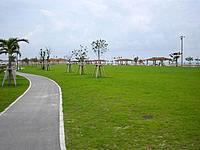 南部の美々ビーチいとまん - ビーチ脇にはこんな広い芝生も