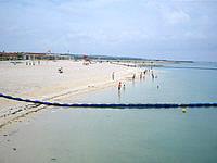 南部の美々ビーチいとまん - ビーチには囲いがあり安全に泳げます