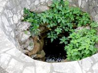 大神島の井戸/遠見台入口 - 現在は使われていない井戸