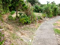 大神島のプナイパーの浜への道 - 横断遊歩道からはここから入ります