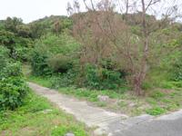 大神島の大神島横断 遊歩道西側 - 周回道路からの入口