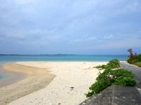 大神島の西の砂浜/パマサス/マウケー/カーキヌパー - 砂だけの岬は結構珍しい