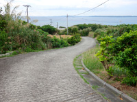 大神島の大神集落/大神島離島振興コミュニティセンター - 集落から港へ下りる道