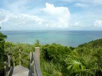 大神島の遠見台/トゥンバラ - 海がとてもキレイに望める場所