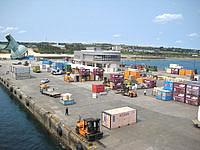 沖永良部島の和泊港の写真