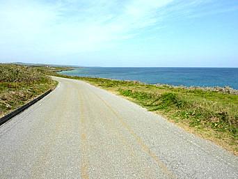 島北側の道