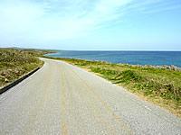 沖永良部島の島北側の道