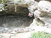 沖永良部島の笠石風葬跡の写真