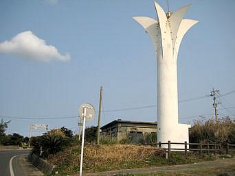 沖永良部島の伊延灯台「西郷上陸の碑の向かいにあります」