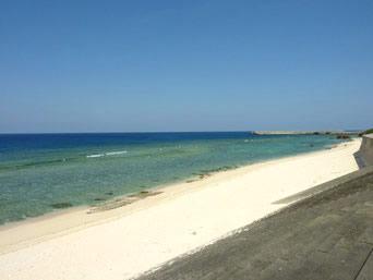 沖永良部島の住吉海岸「島西側の広々としたビーチ」