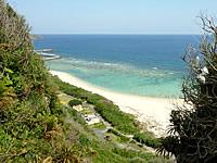 沖永良部島の沖泊の滝上