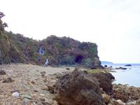 沖永良部島のアバの浜/鍾乳洞