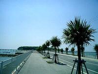 沖縄本島離島 瀬長島の海中道路の写真