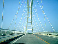 瀬底島の瀬底大橋