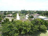 竹富島のなごみの塔からの景色 - 竹富港方面を見る