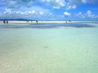 竹富島のコンドイビーチ沖「歩いて行ける幻の浜!」