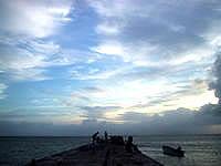 竹富島の西桟橋 - 夕焼け前