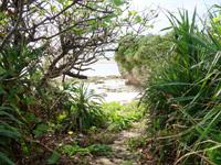 多良間島のウプドゥートゥブリ - ビーチ入口