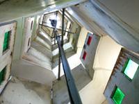 多良間島の八重山遠見台展望台/展望タワー - 展望台はらせん状に階段が上る