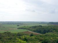 多良間島の八重山遠見台展望台/展望タワー - 南西側は多良間空港まで一望