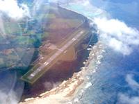 多良間島のかりゆす多良間空港/新多良間空港 - 上空から見た新多良間空港