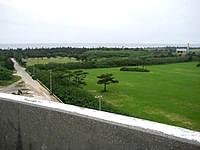 多良間島の貯水塔からの景色 - 島の南側の景色(ゆがぷうランド側)