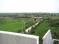 多良間島の貯水塔からの景色 - 島の北側の景色(集落側)