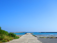 多良間島の普天間港/旧ターミナル - 現在はほとんど船を見ない港