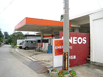 島唯一のガソリンスタンド
