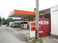 多良間島の島唯一のガソリンスタンド