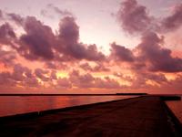 多良間島の朝日の名所/普天間港桟橋 - 多良間島の朝日の名所です