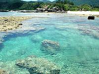 渡嘉敷島の阿波連ビーチ北の海 - 海の上からも海の形がはっきり