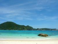 渡嘉敷島ハナレ島のハナレ島のビーチ - 阿波連と違って静か