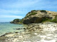 渡嘉敷島ハナレ島のハナレ島の島中央部 - 泳ぐには厳しそう