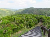 渡嘉敷島の照山展望台 - 展望台定番の地図です