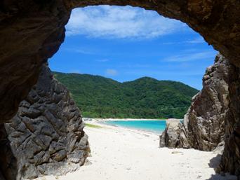 阿波連ビーチの穴場