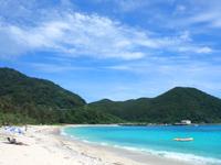 渡嘉敷島の阿波連ビーチの写真