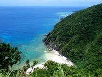 渡嘉敷島の久比里原林道からの景色 - 坂は多いが上りきれば快適な道
