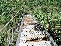 渡嘉敷島ウン島のウン島 - ウン島から最初に上る階段は腐食が進んでいる