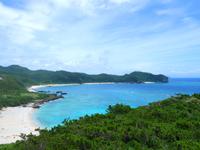 渡嘉敷島の阿波連崎途中の展望台 - 中頭の海も一望できます